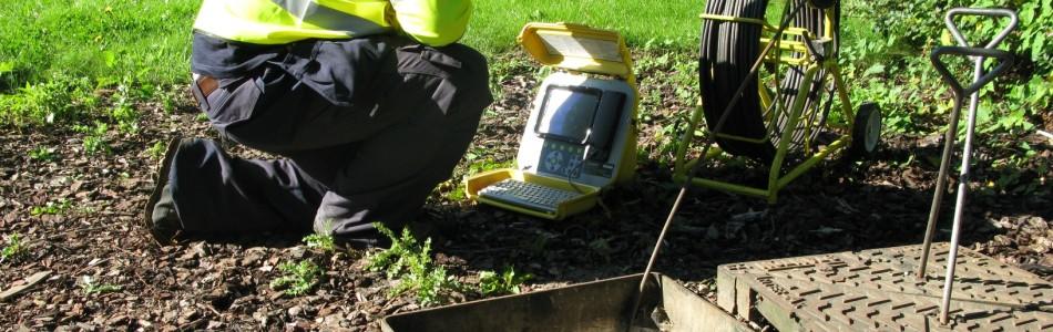Drain Surveys push rod CCTV survey