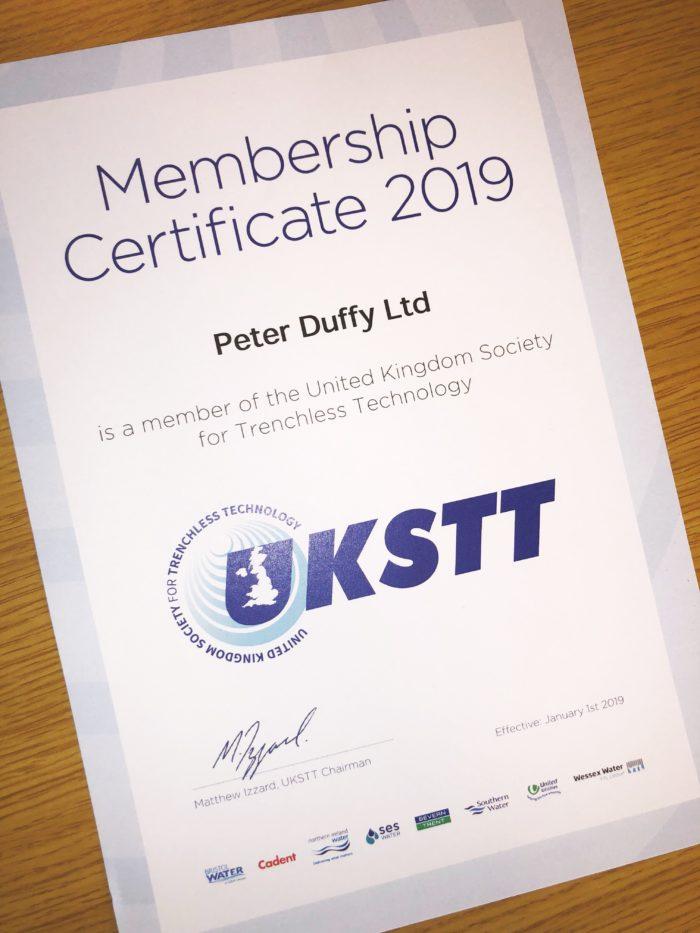 UKSTT Membership Certificate - DrainsAid