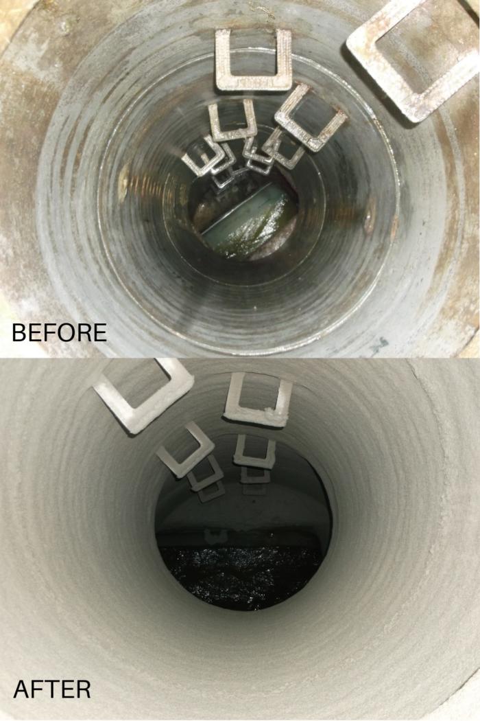 M-Coating Manhole Rehabilitation Before and After